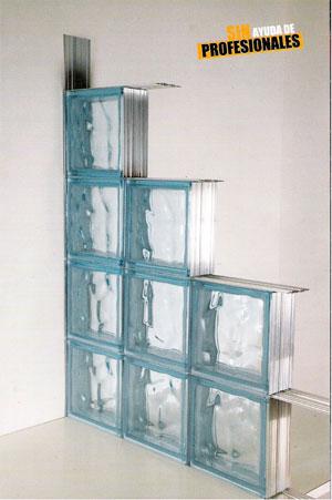 Sistema de montaje para bloques de virio sgd la granja - Pared de bloques de vidrio ...